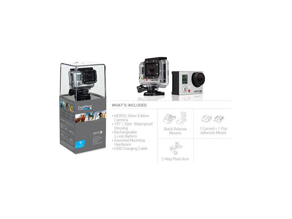 GOPRO HERO3 Silver Edition click to zoom image